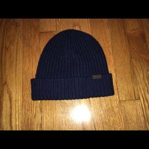 Navy Coach cashmere hat